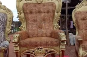 High back king throne chair